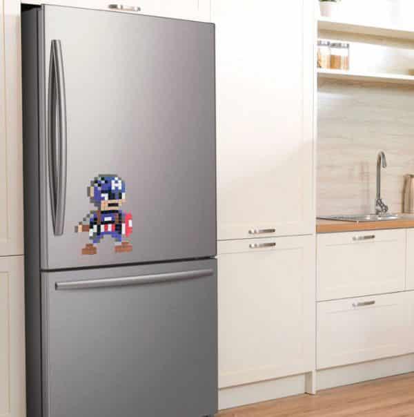 Captain America frigo pixel magnétique