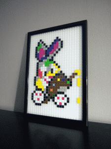 lapin pixel art photo