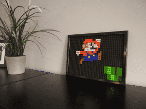 Mario pixel art photo