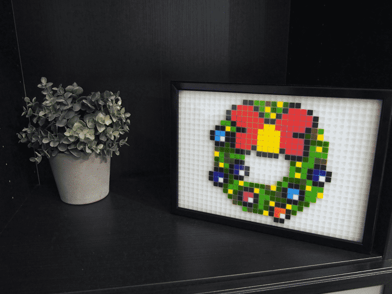 Couronne Noel pixel art photo
