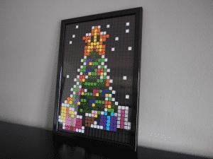 sapin noel pixel art neige photo