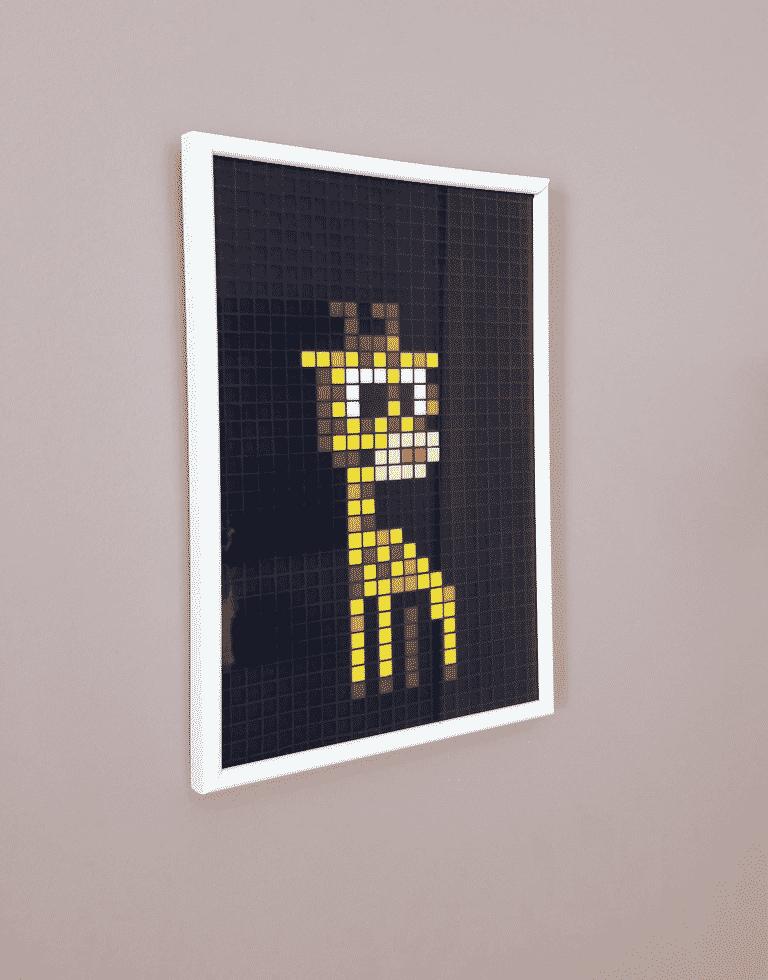 Girafe pixel art mosaique photo