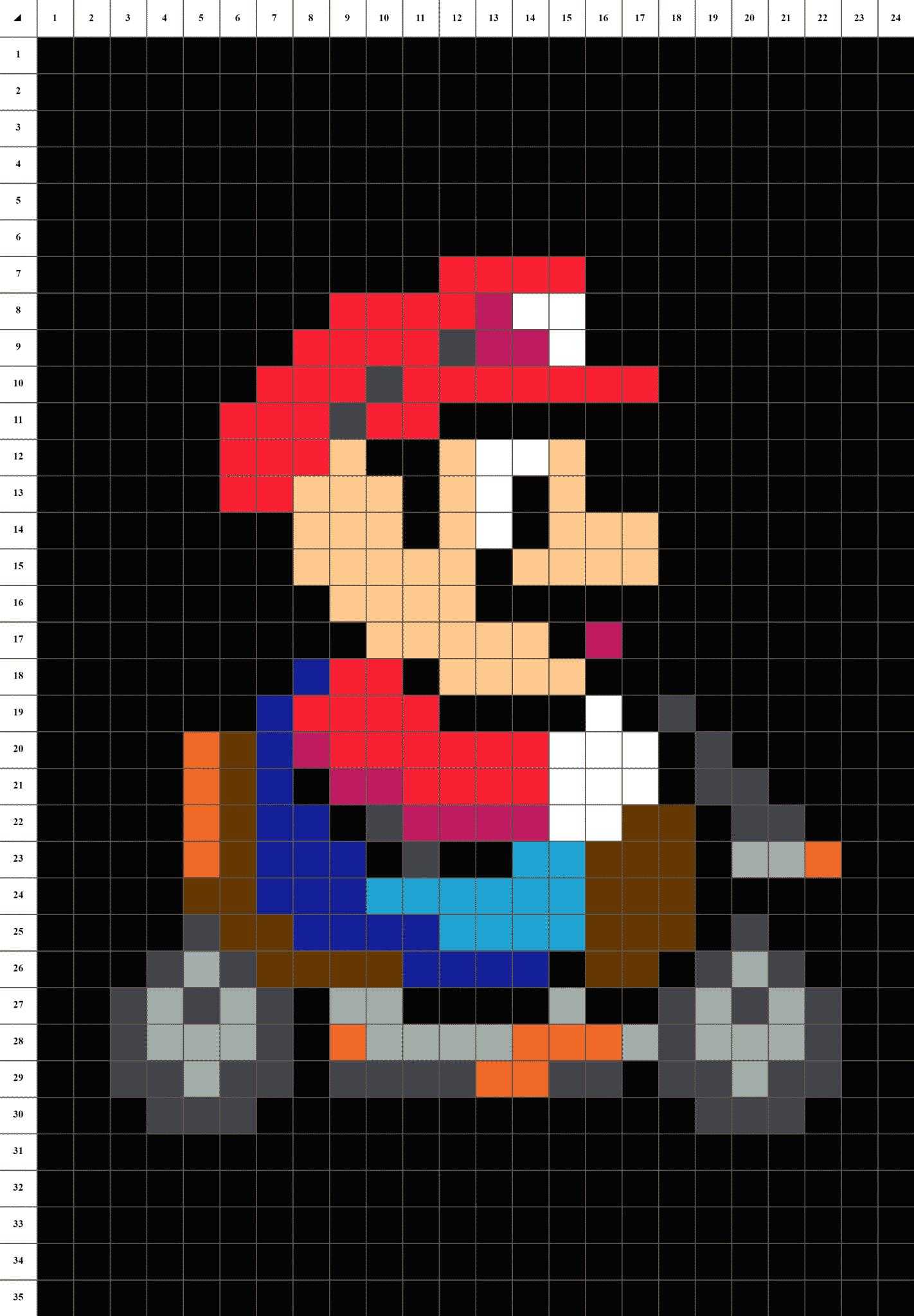 Dessin Pixel Art Mario Kart