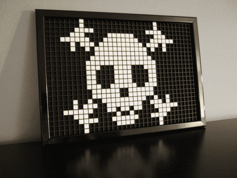 Drapeau pirate pixel art photo