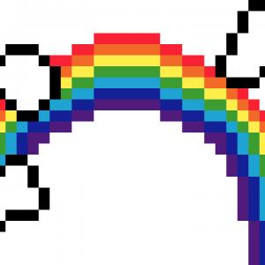 Arc-en-ciel-pixel-art-vignette-fond-blanc