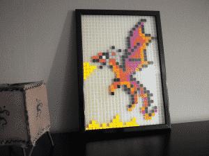 Dragon pixel art photo