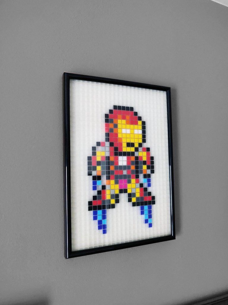 Iron Man pixel art photo