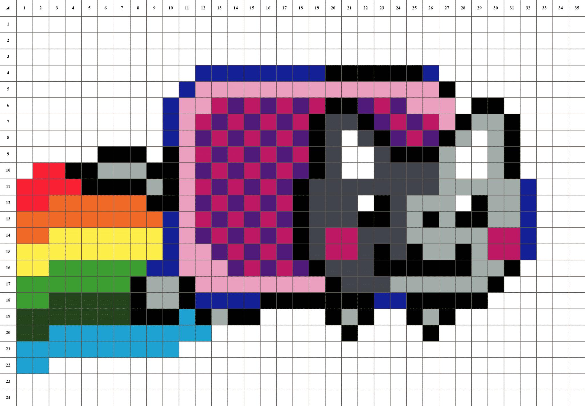 Nyan Cat Pixel Art La Manufacture Du Pixel