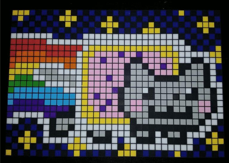 Nyan cat pixel art photo 1