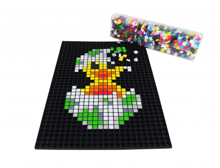 Poussin Pixel art photo