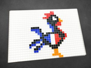 Coq sportif foot pixel art photo