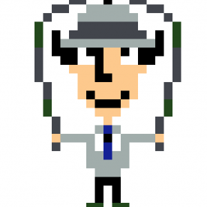 Inspecteur Gadget Pixel Art mosaique vignette fond blanc