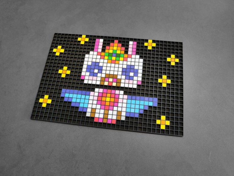 licorne kawaii pixel art photo 1