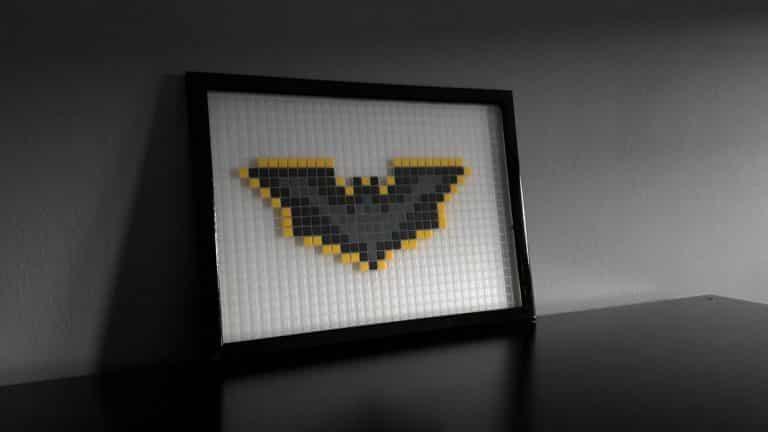 symbole batman pixel art mosaique photo1