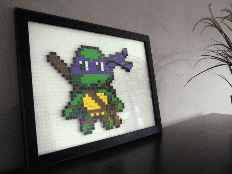 Tortue Ninja Donatello Pixel Art mosaique photo