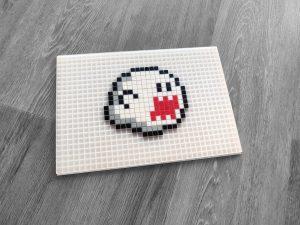 Boo mario fantome pixel art mosaique photo