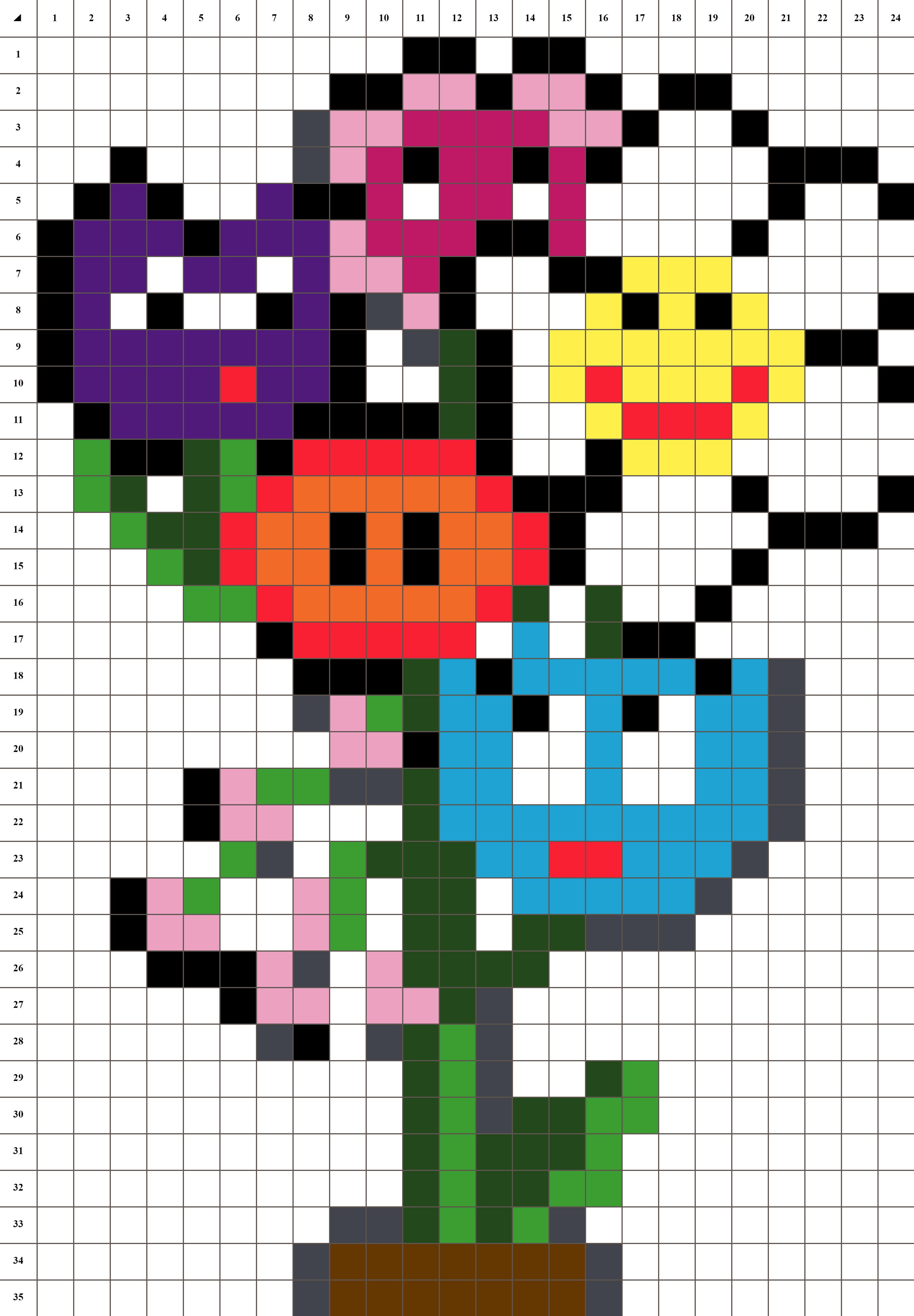 Bouquet De Fleurs Pixel Art La Manufacture Du Pixel