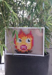 feu chaud pixel art photo