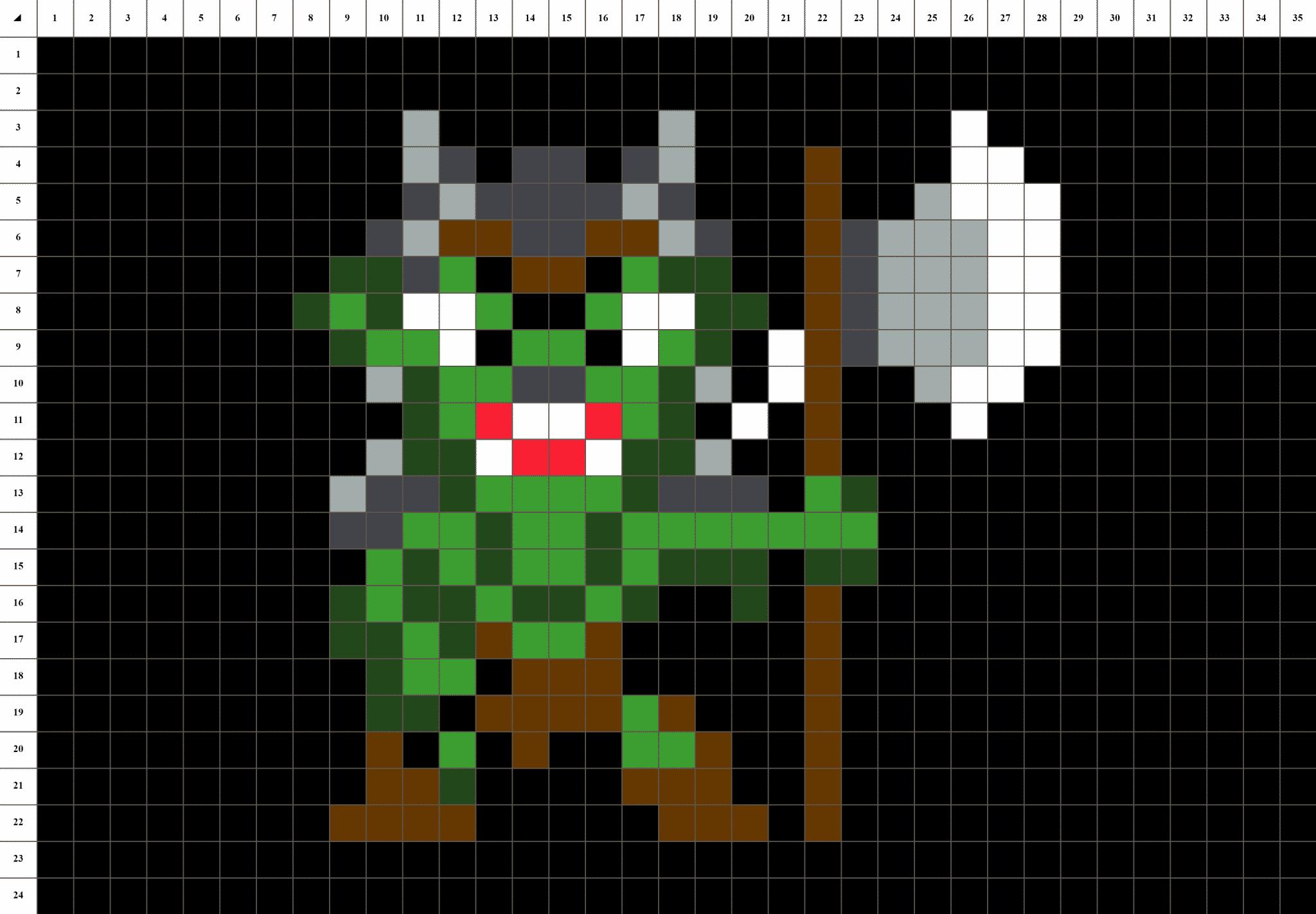 Orc Pixel Art La Manufacture Du Pixel