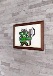 Orc pixel art mosaique photo 1