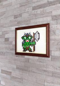 Orc pixel art mosaique photo 1
