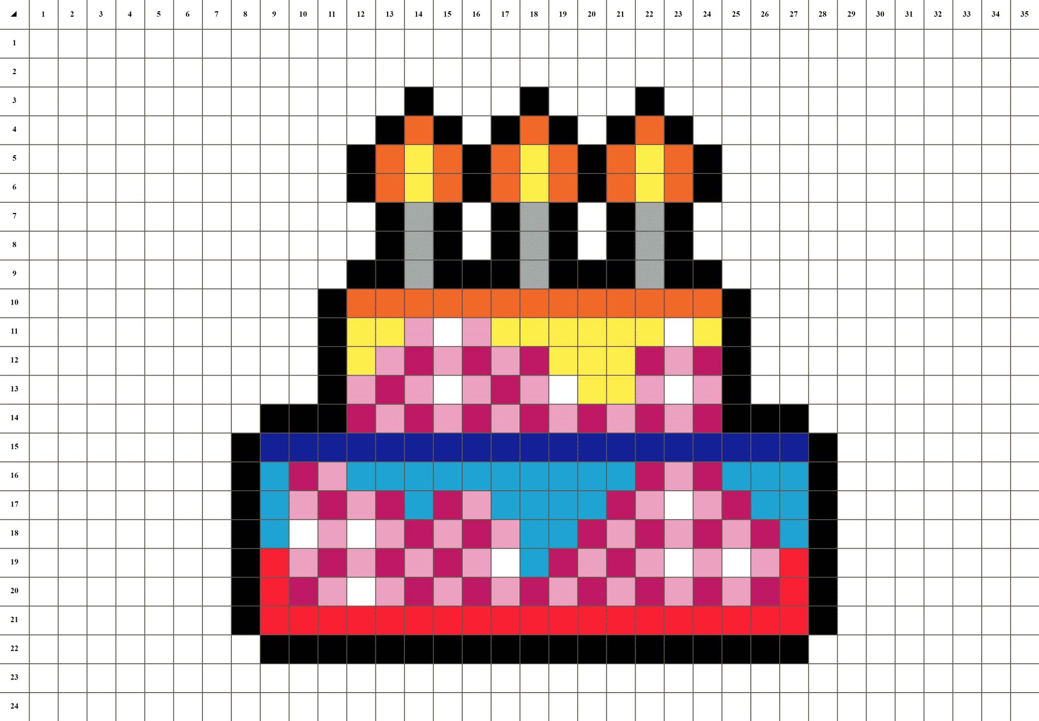 Gâteau Danniversaire Pixel Art La Manufacture Du Pixel