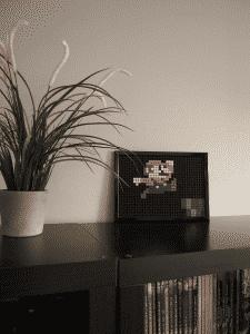 Mario pixel art mosaique photo