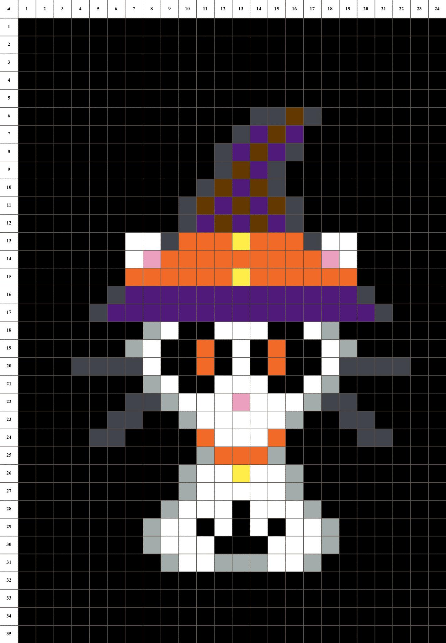 Chat Halloween Pixel Art La Manufacture Du Pixel