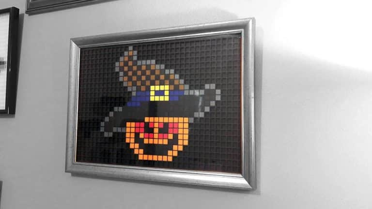 Citrouille Halloween Pixel Art photo