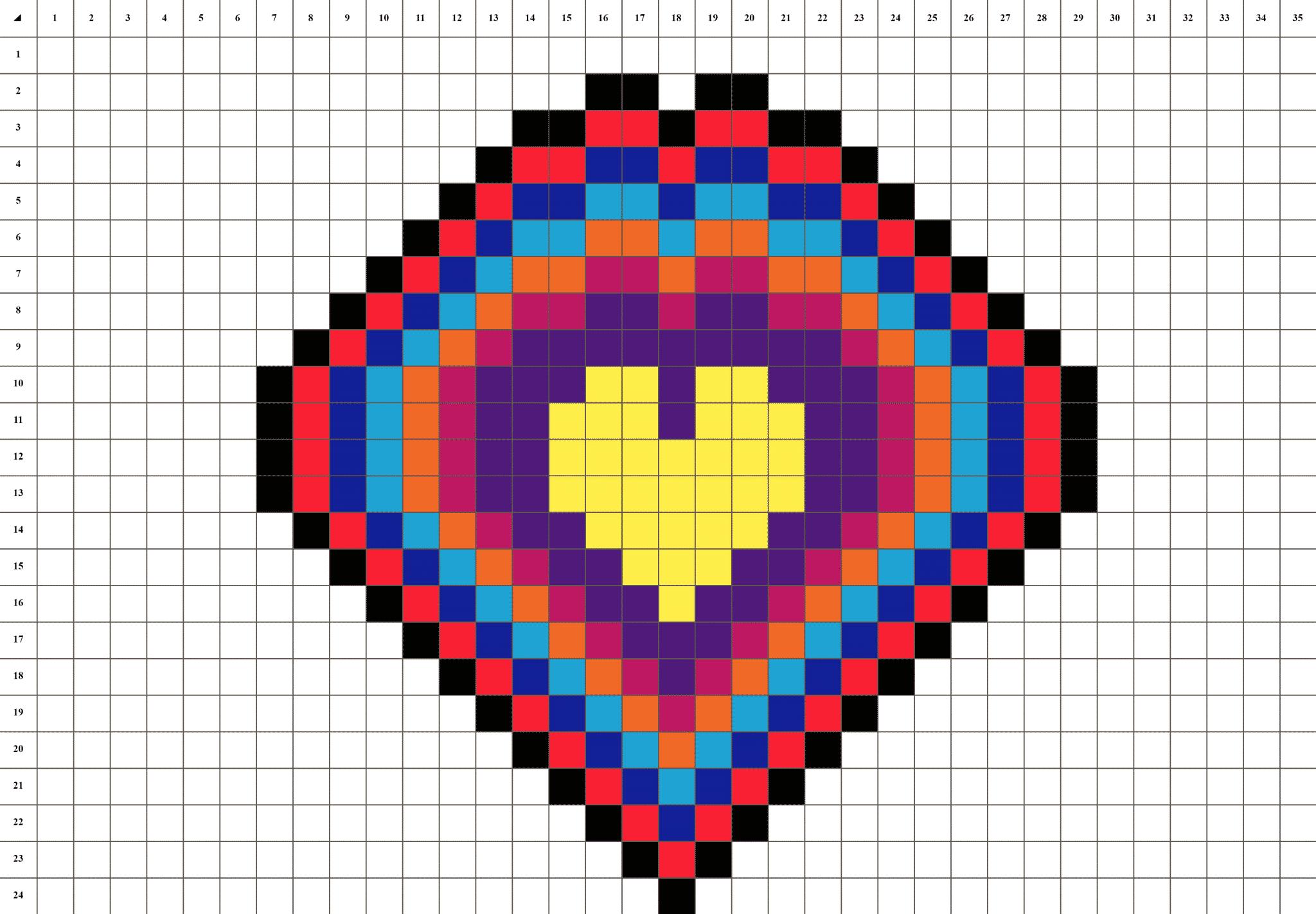 Cœur Mandala Pixel Art