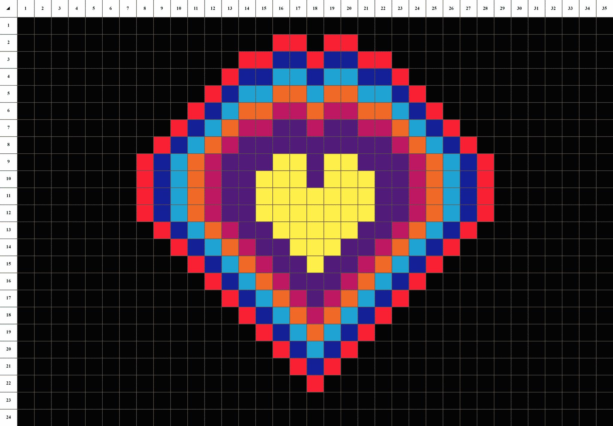 Cœur Mandala Pixel Art La Manufacture Du Pixel