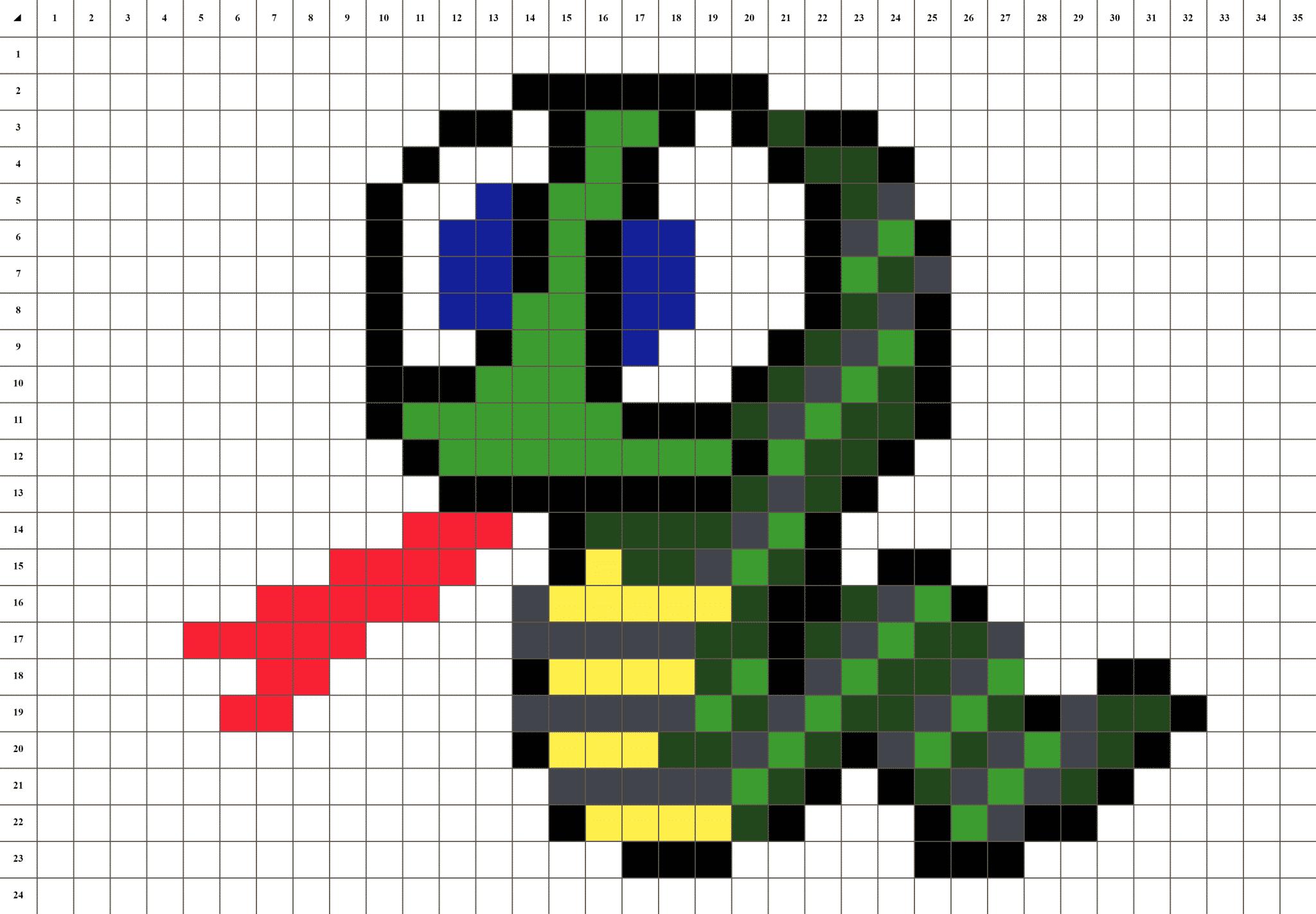 Serpent Pixel Art La Manufacture Du Pixel