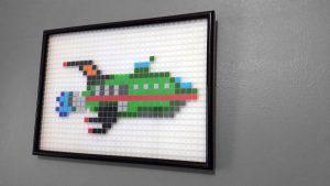 Vaisseau spatial Futurama Pixel Art photo