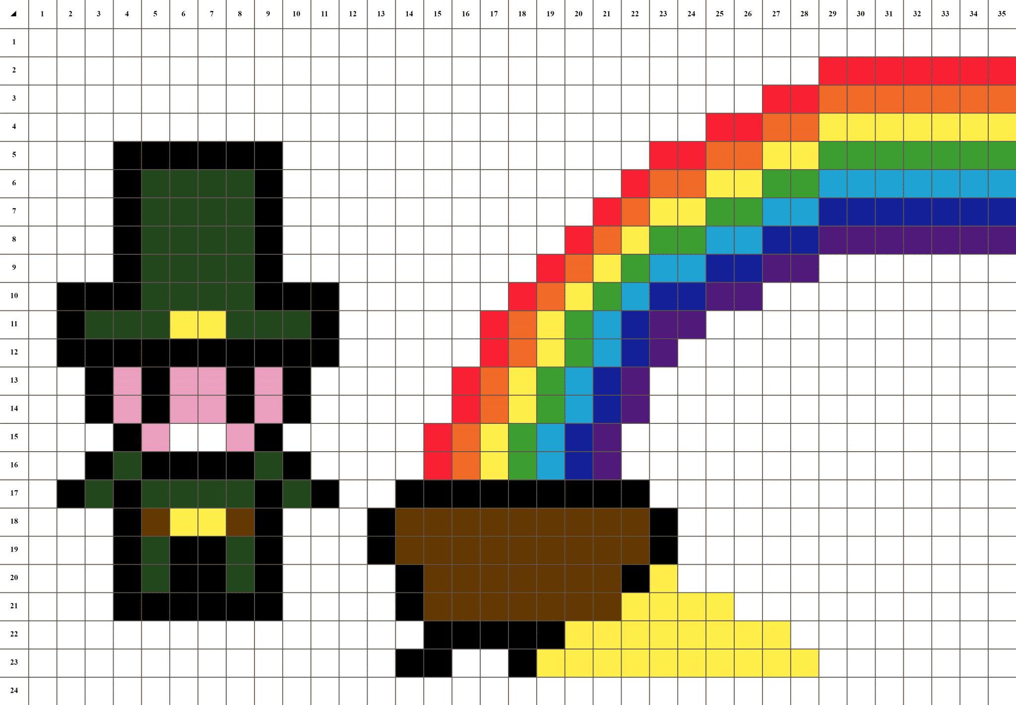 Lutin Et Son Trésor Pixel Art La Manufacture Du Pixel