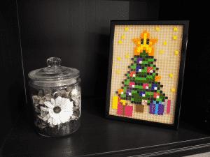 sapin noel cadeaux pixel art photo