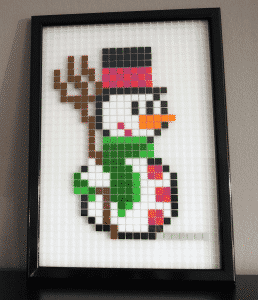 Bonhomme neige pixel art photo