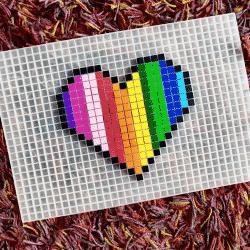 coeur pixel art photo