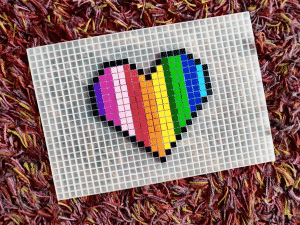coeur pixel art photo
