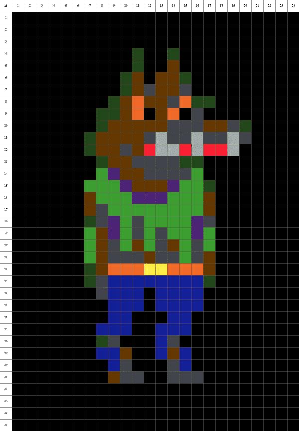 loup garou pixel art fond noir