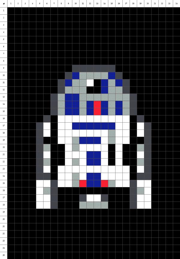 D2R2 - pixel art - fond noir
