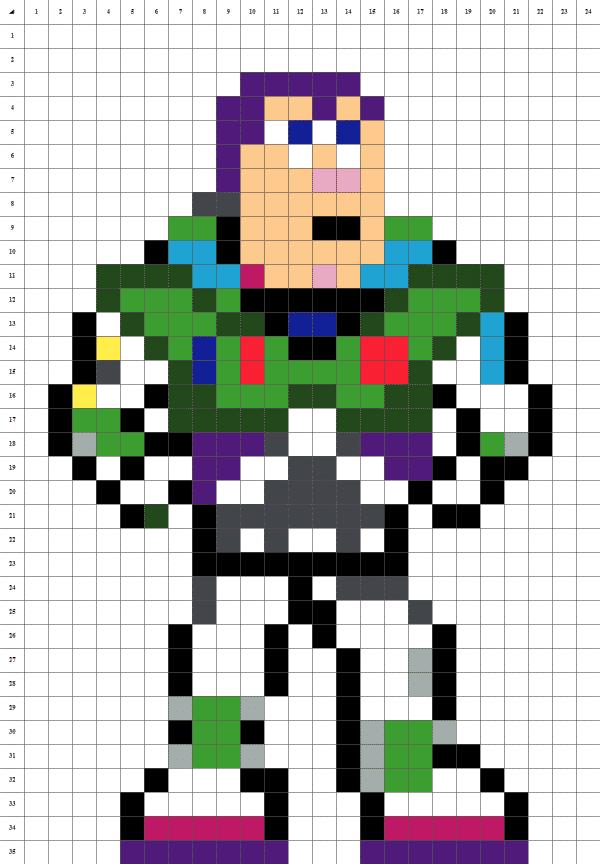 pixel art de buzz l'éclair de toy story sur fond blanc