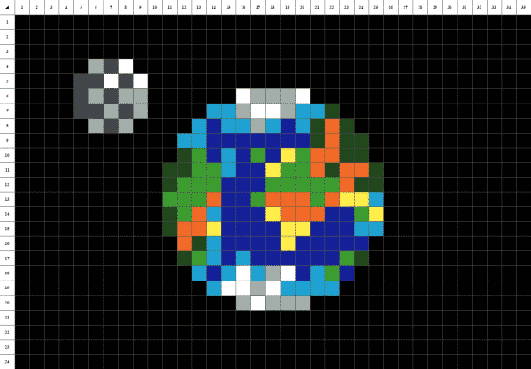 planete terre fond noir