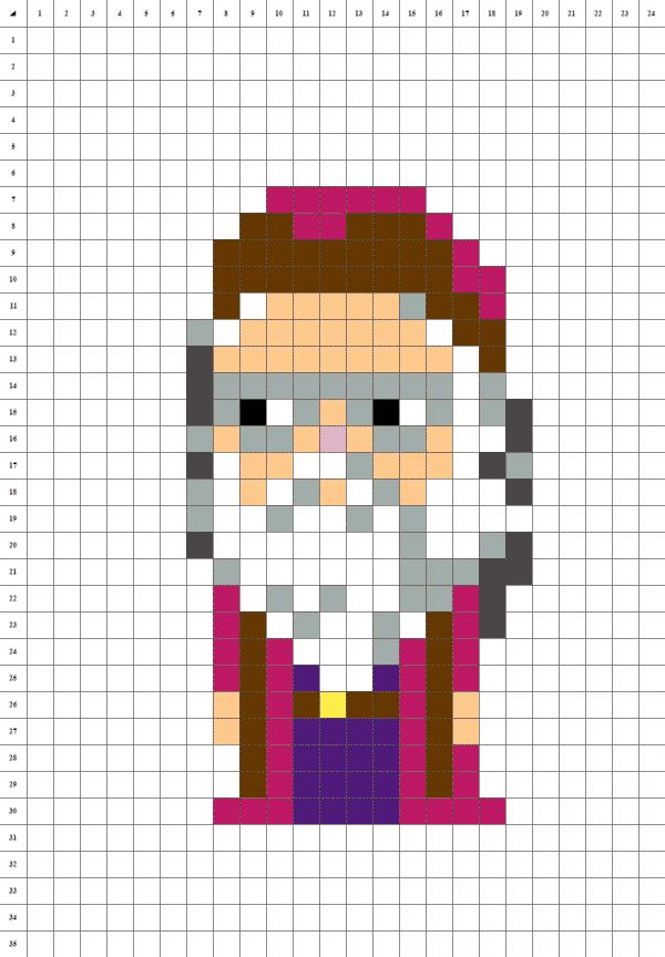 Dumbledore pixel art fond blanc